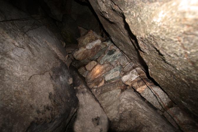 Interior del túnel de nuevo camino inca